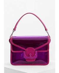 Пурпурная кожаная сумка через плечо от Coccinelle