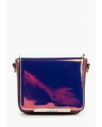 Пурпурная кожаная сумка через плечо от David Jones