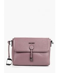 Пурпурная кожаная сумка через плечо от Dino Ricci
