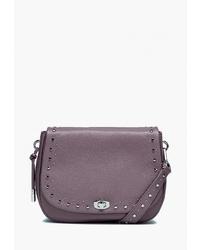 Пурпурная кожаная сумка через плечо от Eleganzza