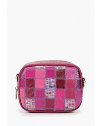 Пурпурная кожаная сумка через плечо от Fiato