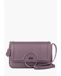 Пурпурная кожаная сумка через плечо от L-Craft
