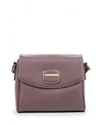 Женская пурпурная кожаная сумка через плечо от Labbra