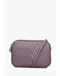 Пурпурная кожаная сумка через плечо от Labbra