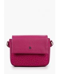 Пурпурная кожаная сумка через плечо от Pimobetti