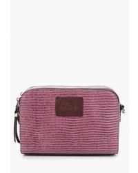 Пурпурная кожаная сумка через плечо от Trevor