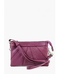 Пурпурная кожаная сумка через плечо