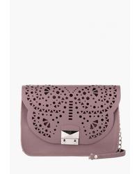 Пурпурная кожаная сумка через плечо от Vintage