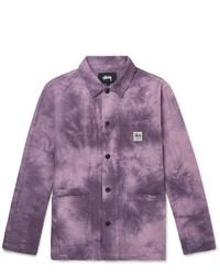 Пурпурная куртка-рубашка