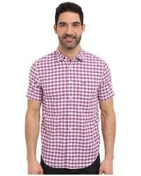 Пурпурная рубашка с коротким рукавом