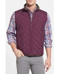Пурпурная стеганая куртка без рукавов