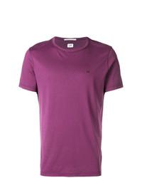 Мужская пурпурная футболка с круглым вырезом от CP Company