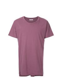 Мужская пурпурная футболка с круглым вырезом от John Elliott