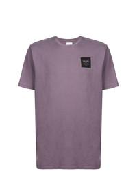 Мужская пурпурная футболка с круглым вырезом от Wood Wood