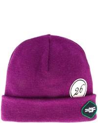 Мужская пурпурная шапка от Raf Simons