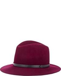 Пурпурная шерстяная шляпа