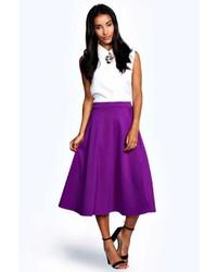 Пурпурная юбка-миди