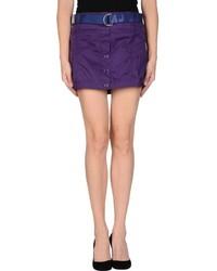 Пурпурная юбка на пуговицах