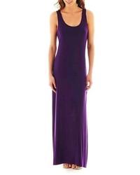 Пурпурное платье-макси