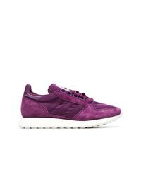 Пурпурные низкие кеды