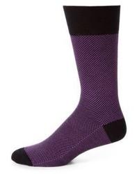 Пурпурные носки с принтом