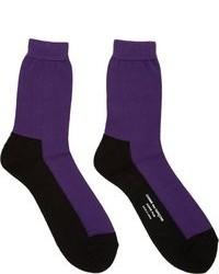 Мужские пурпурные носки от Comme des Garcons