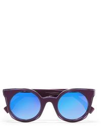 Женские пурпурные солнцезащитные очки от Fendi