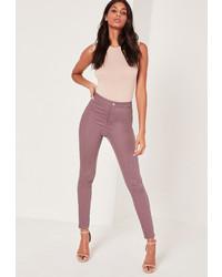 Женские пурпурные хлопковые джинсы скинни от Missguided