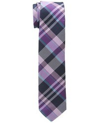 Пурпурный галстук в шотландскую клетку