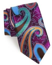 Пурпурный галстук с принтом