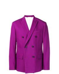 Пурпурный двубортный пиджак