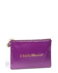 Пурпурный кожаный клатч