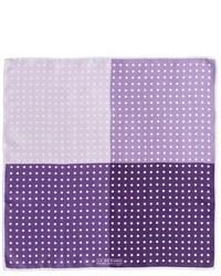 Пурпурный нагрудный платок в горошек