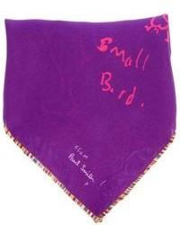 Пурпурный нагрудный платок с принтом