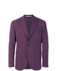 Пурпурный пиджак в клетку