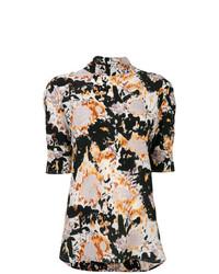 Разноцветная блуза с коротким рукавом с принтом от Marni