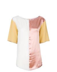 Разноцветная блуза с коротким рукавом от Marni