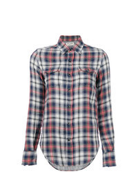 Разноцветная классическая рубашка в шотландскую клетку