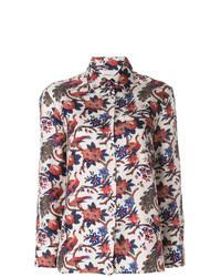 Разноцветная классическая рубашка с принтом