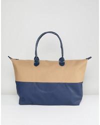 Разноцветная кожаная большая сумка от Mi-pac