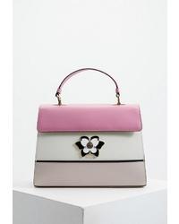 Разноцветная кожаная сумка-саквояж от Furla