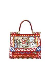 Разноцветная кожаная сумочка