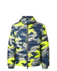 Разноцветная куртка-пуховик