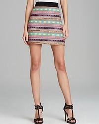 Разноцветная мини-юбка