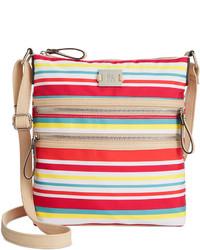 Разноцветная сумка через плечо из плотной ткани