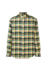 Мужская разноцветная фланелевая рубашка с длинным рукавом в клетку от Gitman Vintage