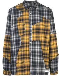 Мужская разноцветная фланелевая рубашка с длинным рукавом в шотландскую клетку от Mostly Heard Rarely Seen