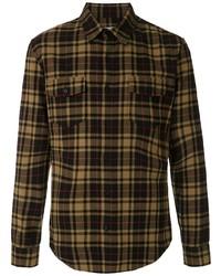 Мужская разноцветная фланелевая рубашка с длинным рукавом в шотландскую клетку от OSKLEN