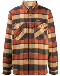 Мужская разноцветная фланелевая рубашка с длинным рукавом в шотландскую клетку от Patagonia