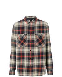 Мужская разноцветная фланелевая рубашка с длинным рукавом в шотландскую клетку от rag & bone